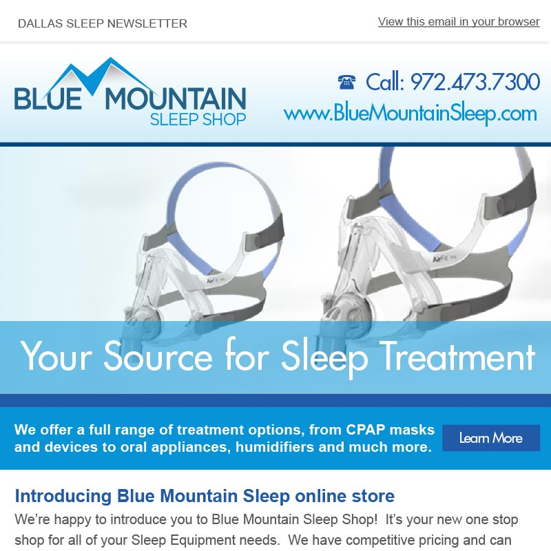 Blue Mountain Sleep Email Campaign