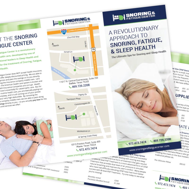 Snoring and Fatigue Center Brochure